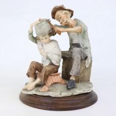Older Statue - Painted Plaster - Barber
