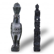 2 Stone Statues - Egyptian and South American Theme