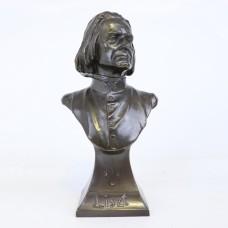 Bust Brass Statue - Franz Liszt