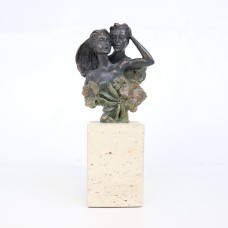 Old Brass Statue - Love