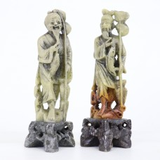 2 Stone Statue - Asian theme - Fisherman