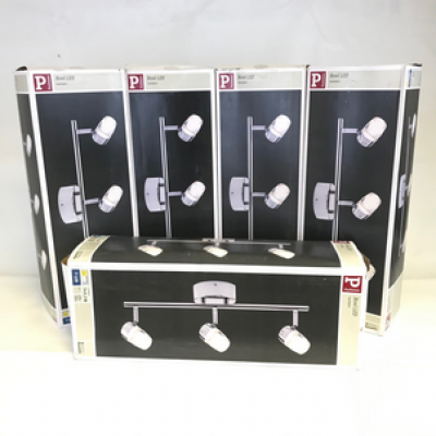 5x Paulmann Ceiling light -Bowl LED - 3x3.2W - Silver