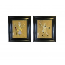 Set of 2 handmade arts works - Italy