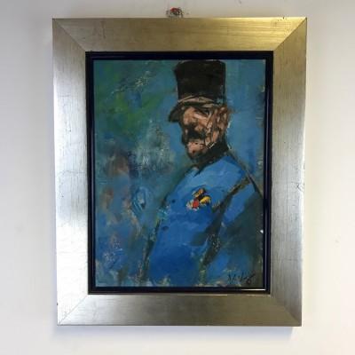Framed Oil Painting – Signed – Viktor Sest - Rudolf Maister