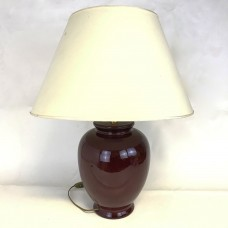 Large Vintage Lamp – Red Ceramic