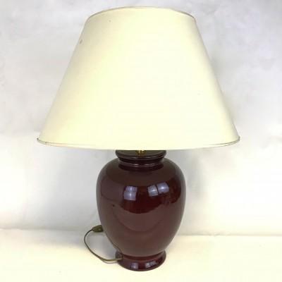 Large Vintage Lamp – Red Ceramic
