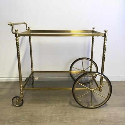 French Brass Serving Bar Cart 1950s