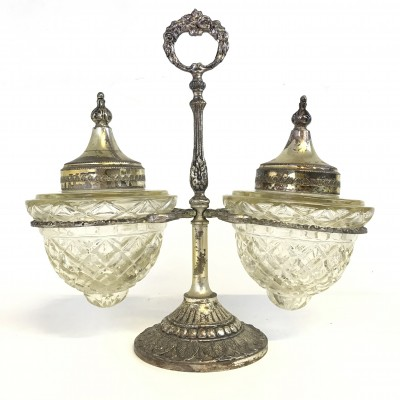 Antique Double Marmelade Silver plated