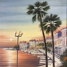Framed Oil Painting – Signed – Unknown - Beach