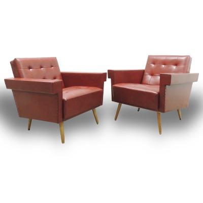 Vintage Red Sofa – 2 pieces