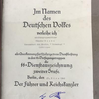 Signed document Adolf Hitler