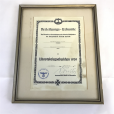 Signed document Karl Dönitz