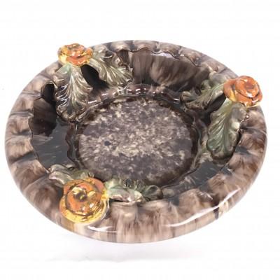 Antique Ceramic Bowl – 1864 Flowers