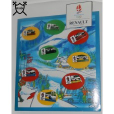 SET OF 8 RENAULT ALBERTVILLE BADGES 1992